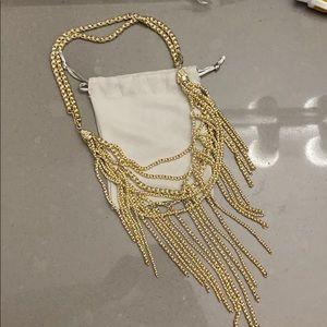 Kendra Scott Landry fringe necklace in gold